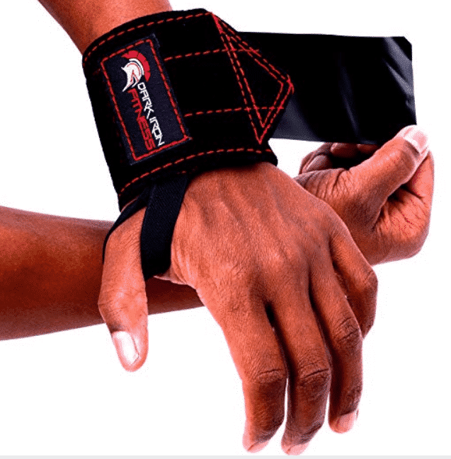 Dark Iron Fitness Leather Weight Lifting Wrist Wraps