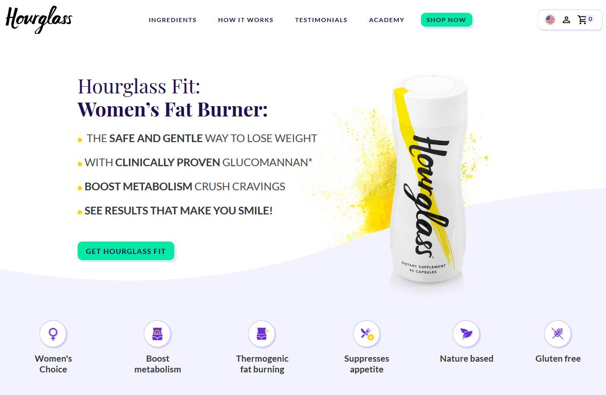 Hourglass Fit Homepage