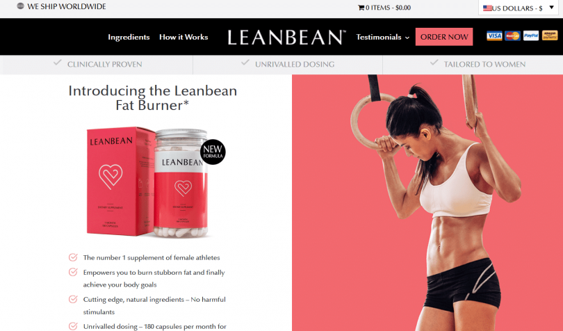 Leanbean website