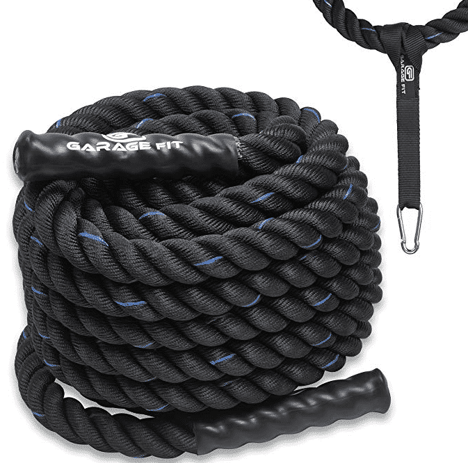 Garage fit battle rope