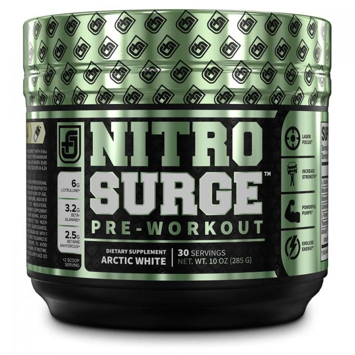 Nitrosurge pre-workout supplement