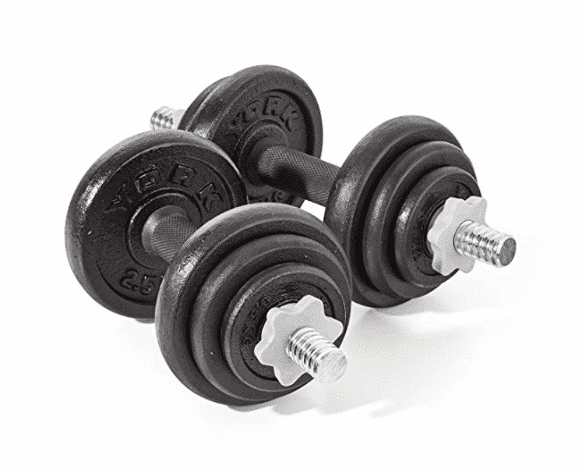 York Fitness Spinlock Dumbbell Set