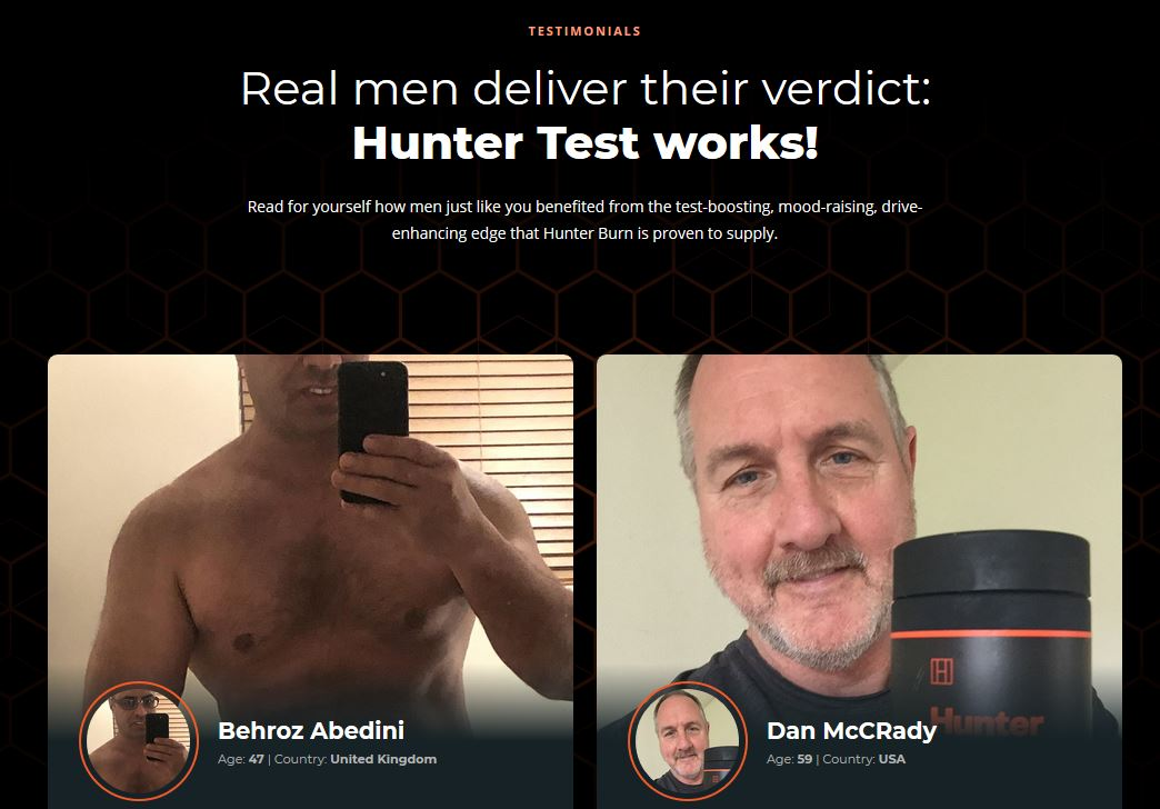 Hunter Test Testimonials