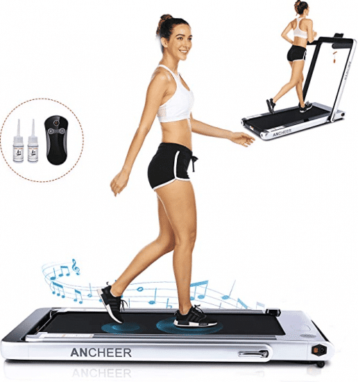 ANCHEER Under Desk Folding Treadmill Indoor