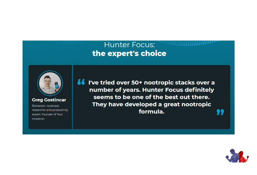 Hunter Focus testimonial