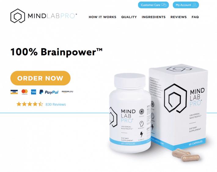 Mindlab Pro website